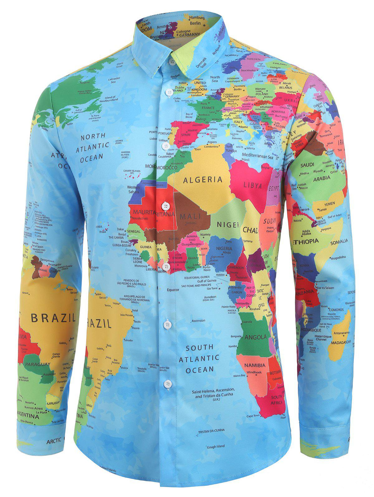 Detailed World Map Print Graphic Shirt on west inies on a map of the world, i need a map united states, i need the color wheel, west part of the world,