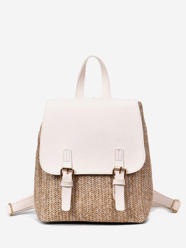 Shops Straw Woven Casual Jointed Satchel Backpack