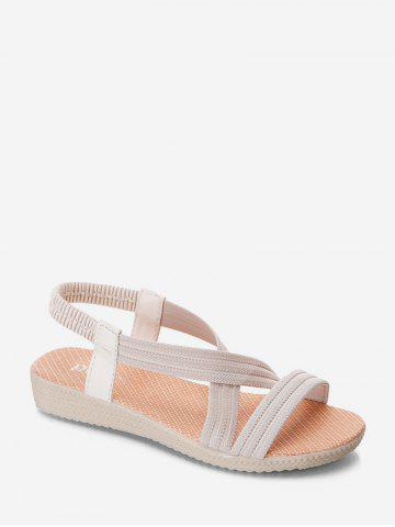 Cross Strap Elastic Band Slip-on Casual Sandals