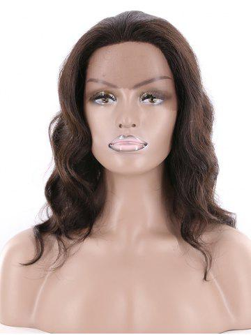 Human Hair Long Wavy Wig with Front Lace