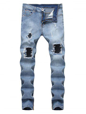 Destroyed Decoration Leisure Style Jeans
