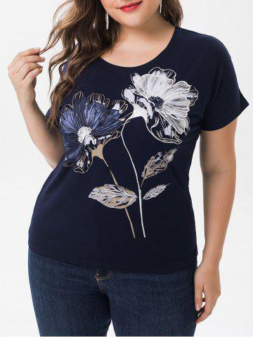 Plus Size Floral Graphic Tee