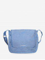 Casual Denim Crossbody Bag -