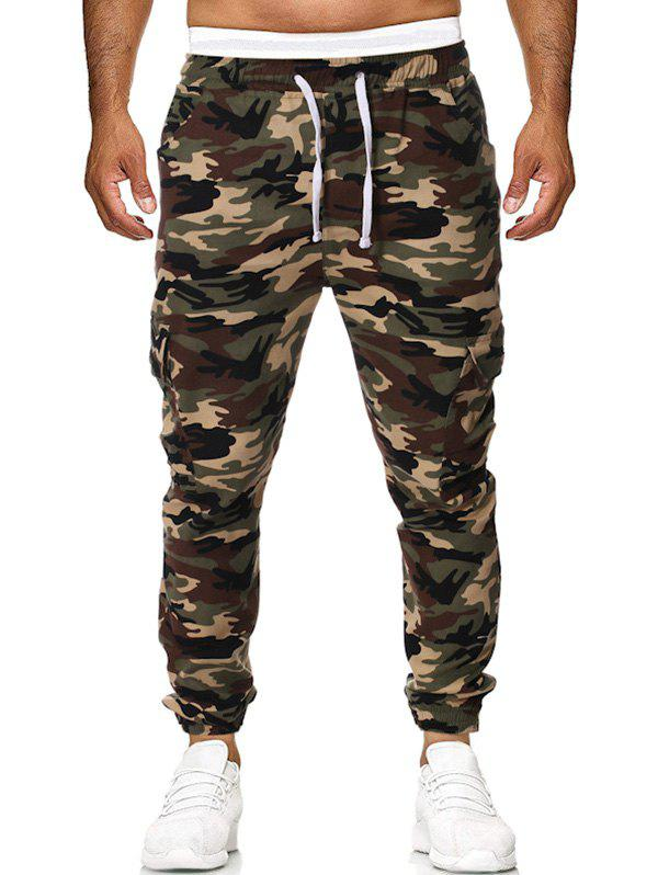 Outfits Camouflage Pattern Casual Drawstring Jogger Pants
