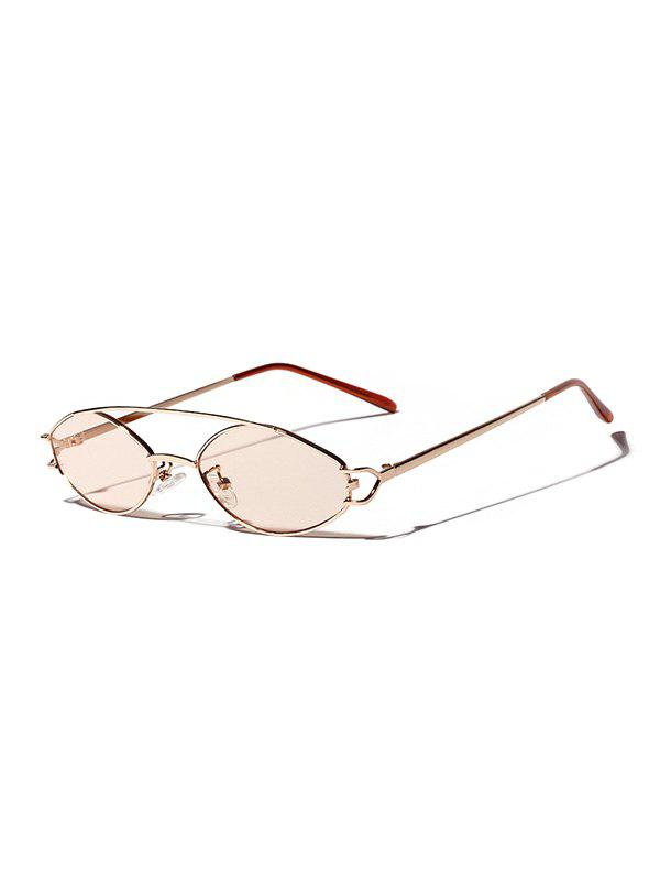 Best Narrow Bar Retro Irregular Sunglasses