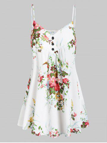 Flower A Line Cami Top