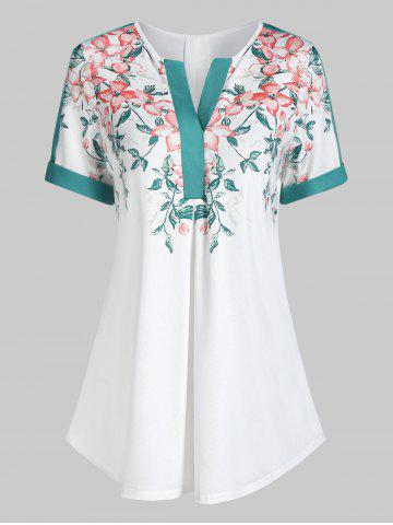 Floral Print Flare Tunic T Shirt