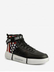 American Flag Pattern High Top Skate Shoes -