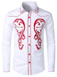 Embroidery Design Long Sleeves Shirt -