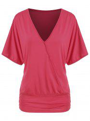 Batwing Open Shoulder V Neck Top -