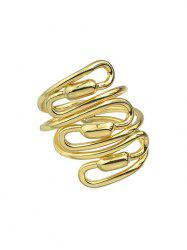 Personality Spiral Wide Ring -