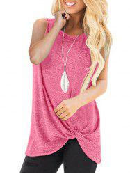 Twisted Casual Solid Tank Top -