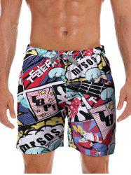 Graphic Printed Leisure Board Shorts -