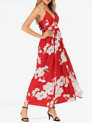 Floral Halter High Slit Maxi Dress -