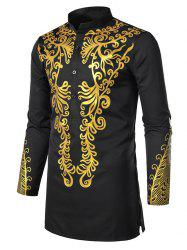 African Print Button Up Full Sleeves Shirt -