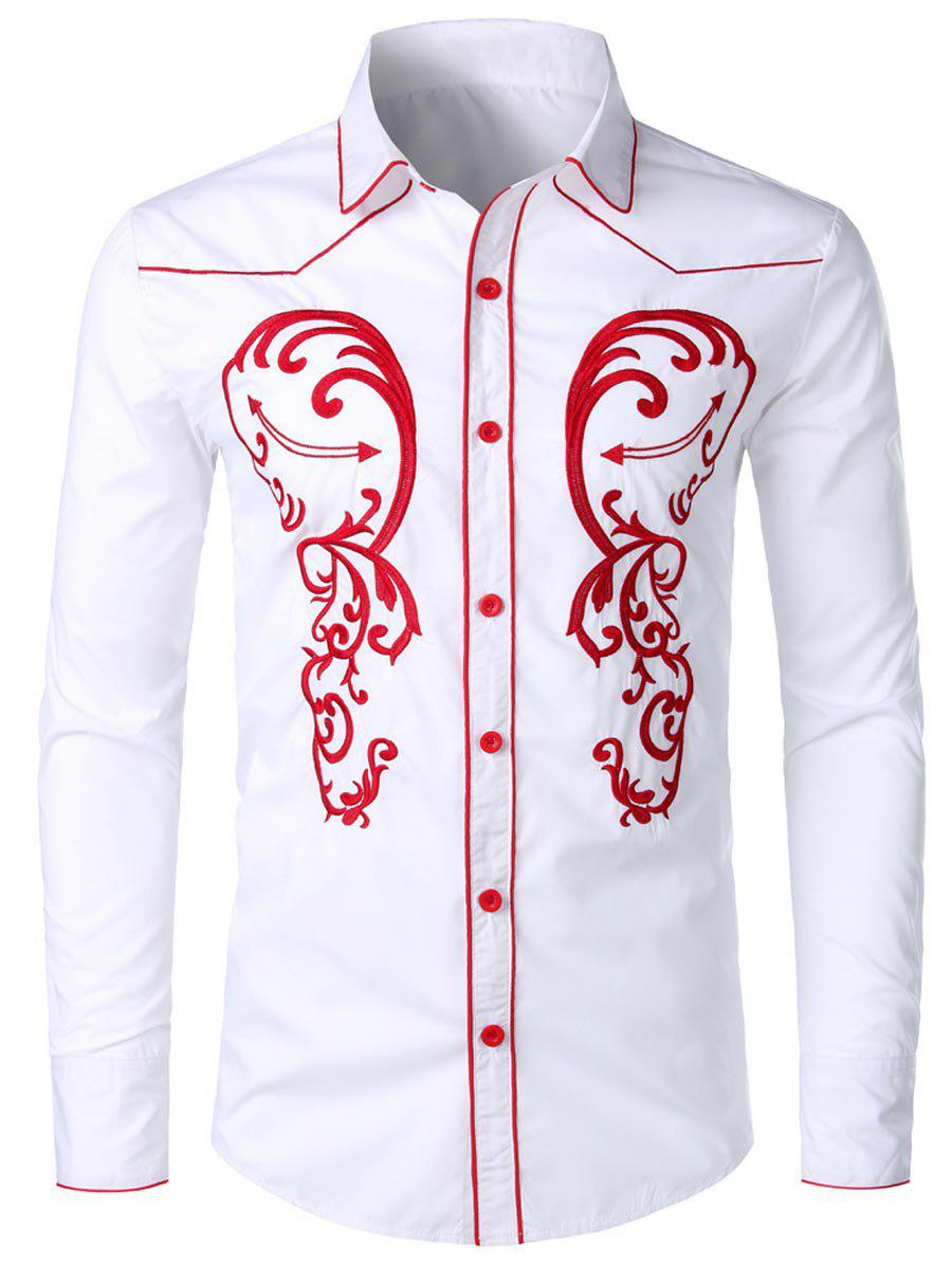 Affordable Embroidery Design Long Sleeves Shirt