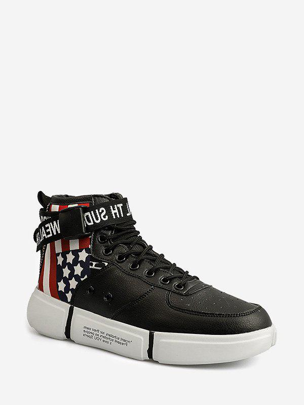 Sale American Flag Pattern High Top Skate Shoes