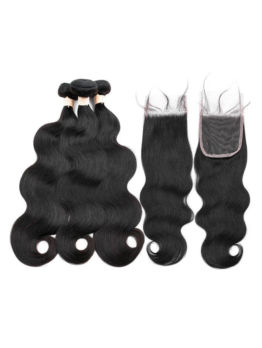Affordable 3Pcs Body Wave Human Hair Weft with 1Pc Free Part Hair Weft