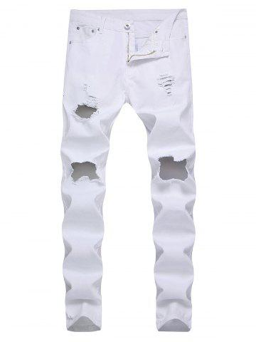 Destroyed Decoration Leisure Jeans