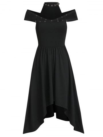 Grommet High Low Choker Midi Dress