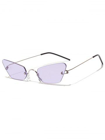 Irregular Shape Metal Frame Chic Sunglasses