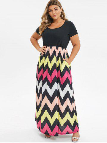 f681add629 Plus Size Maxi Dresses - Long Sleeve, Floral, White And Black Cheap ...