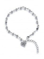 Plum Blossom Hollow Heart Anklet -