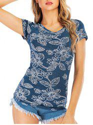 Graphic Short Sleeve Casual Tee -