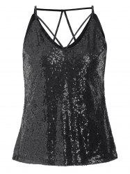 Party Strappy Sequins Cami Top -