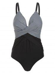 Striped Twisted Padded Swimsuit -