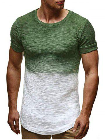 Ombre Pattern Casual Short Sleeves T-shirt