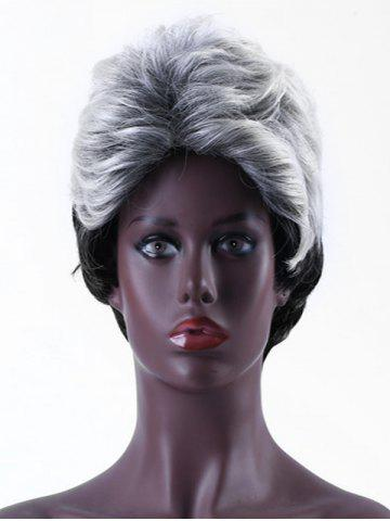 Ombre Short Straight Side Part Synthetic Wig