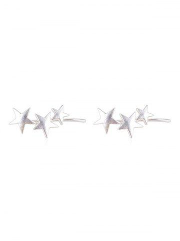 Personality Star Clip Earrings