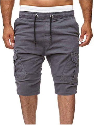 Solid Color Multi-pocket Sport Shorts