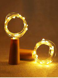 Wine Bottle Stopper with 2 Meters Copper Wire String Lights -
