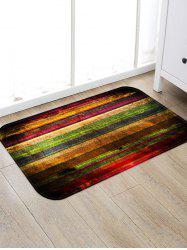 Colorful Wooden Board Pattern Water Absorption Area Rug -