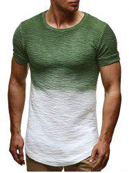 Ombre Pattern Casual Short Sleeves T-shirt -