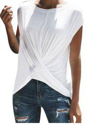 Twist Front Solid T-shirt -