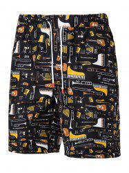 Musical Instruments Pattern Board Shorts -