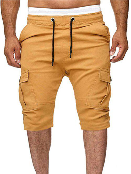 Shops Solid Color Multi-pocket Sport Shorts
