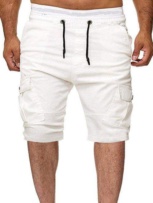 Discount Solid Color Multi-pocket Sport Shorts
