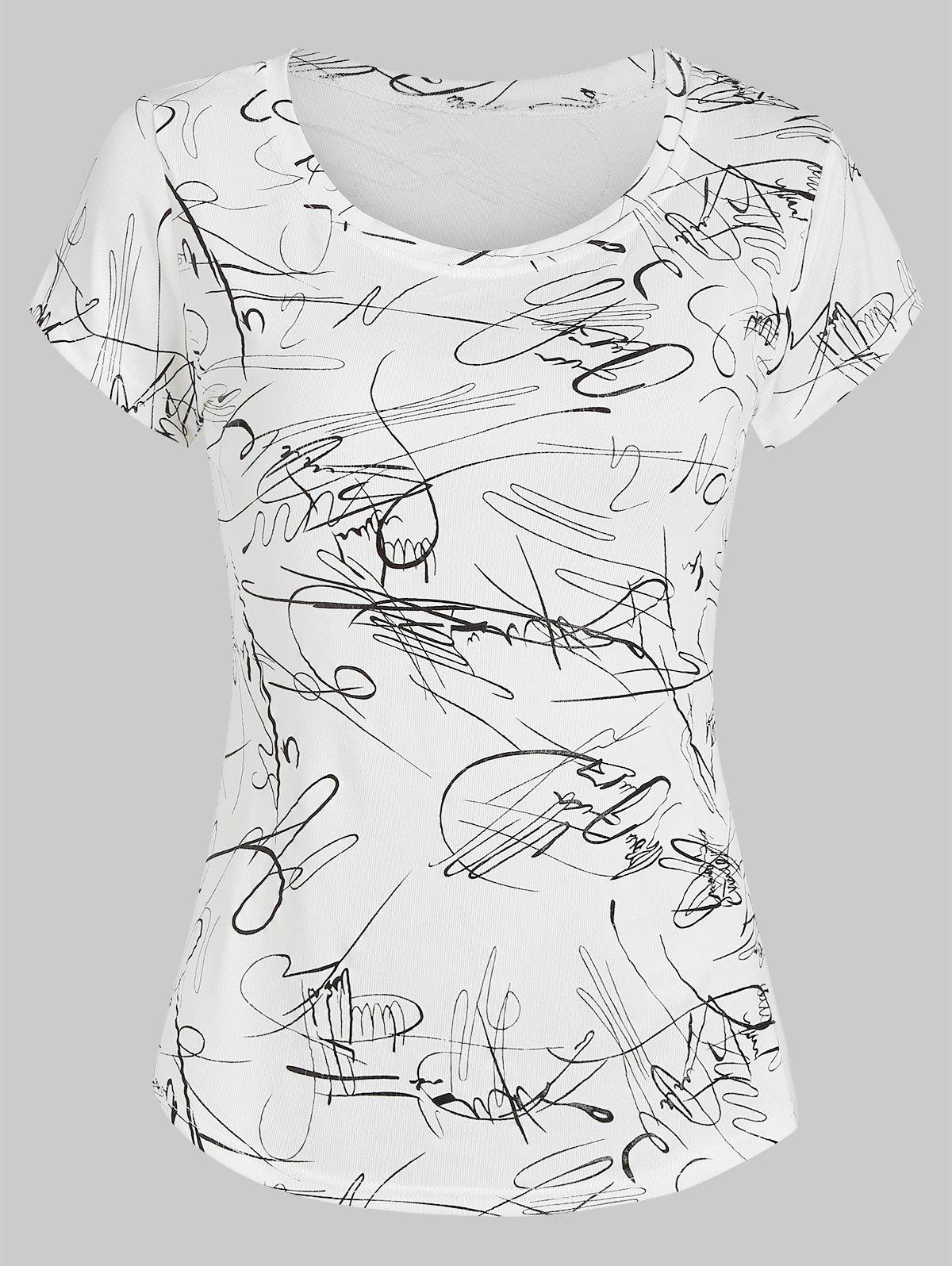 Online Graphic Short Sleeve Casual Tee