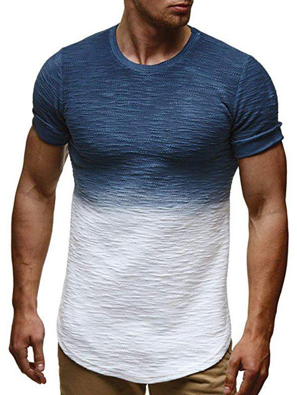 Chic Ombre Pattern Casual Short Sleeves T-shirt