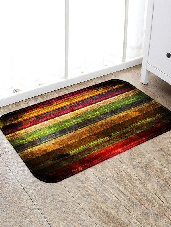 Cheap Colorful Wooden Board Pattern Water Absorption Area Rug