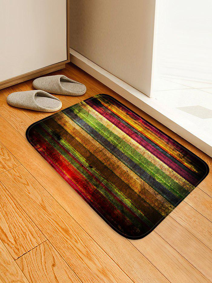 New Colorful Wooden Board Pattern Water Absorption Area Rug