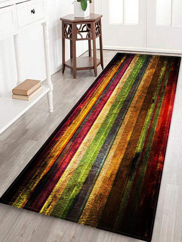 Sale Colorful Wooden Board Pattern Water Absorption Area Rug