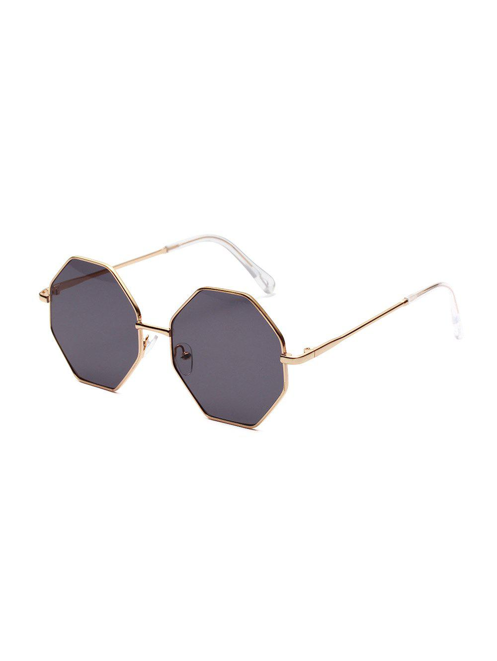 Trendy Irregular Brief Metal Sunglasses