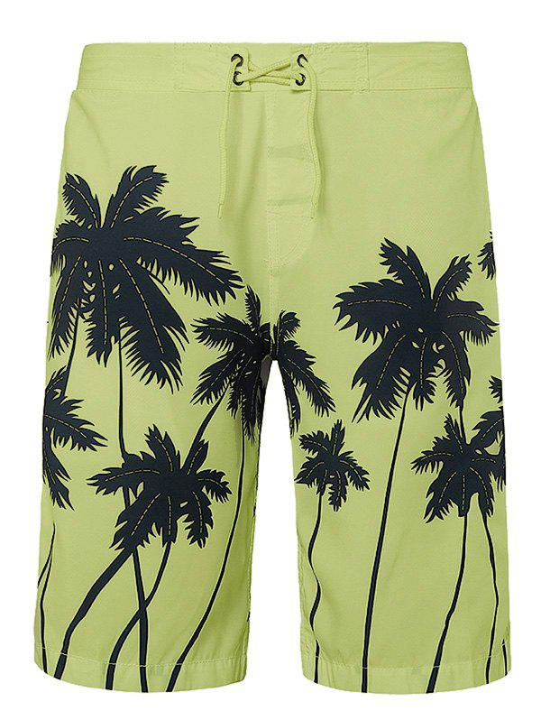 Outfits Coconut Palms Print Drawstring Board Shorts