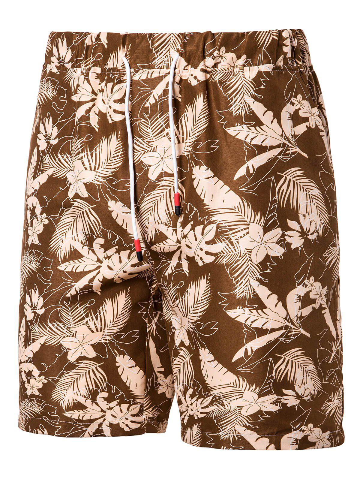 Buy Leaf Floral Pattern Board Shorts