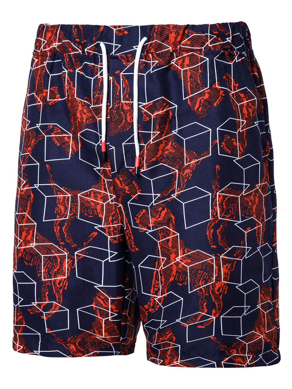 Sale Geometric Pattern Board Shorts